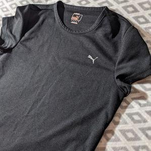 Puma Black Workout top short-sleeved t-shirt women's size Large.